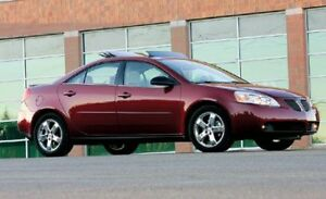 Red Pontiac G6 Sedan 2008 (LOW MILEAGE + SUNROOF)