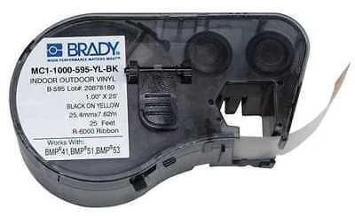 Brady Mc1-1000-595-yl-bk Label Tape Cartridgeblackyellow1 In W