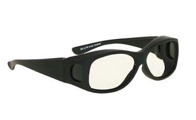 Laser Safety Eyewear - Co2excimer Filter In Black Plastic Fit-over Frame Style.