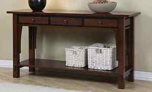 Custom 3 drawer console table.