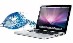 WE FIX WATER DAMAGED MACBOOK, MACBOOK PRO, MACBOOK PRO RETINA