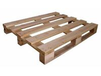 Free to collector 2 clean, dry wooden pallets