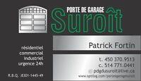 Porte de garage suroît 514-771-0441