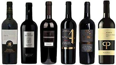 6er Wein Probierpaket Primitivo di Manduria bestehend aus 6 Sorten Wein 6x075l