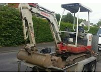 HARRYS excavation mini digger and driver hire foundations cheap rates for Rotherham customers
