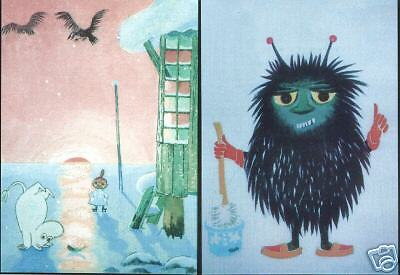 Moomin Finland Tove Jansson Mint Postcards 2 Very Nice