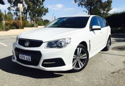 2014 Holden Commodore VF MY15 SV6 White 6 Speed Automatic Sportswagon