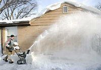 Snow Removal Winter snow Free Eaves Cleaning or window cleaning