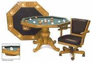 Oak Poker Table