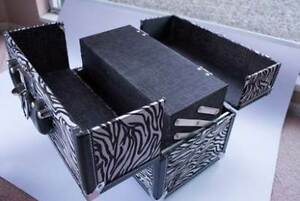 Zebra Print Cosmetic Train Case - $25