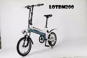 "Weekly Promotion!   20""   Aluminum alloy  Folding eBike, LOT DM200, White  $1199"