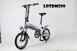 "Spring Promotion! High Quality   20"" Aluminum alloy Folding eBike, LOT DM200, White/Black $1399(was $1799)"