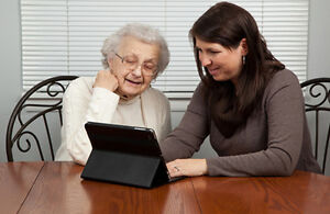 Computer and social media tutoring for seniors
