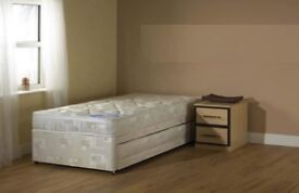 3Ft Single 3 In 1 Trundle Bed with Pull Out Bed