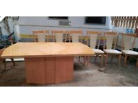 VGC Gorgeous Extendable Dining Table with 6 chairs
