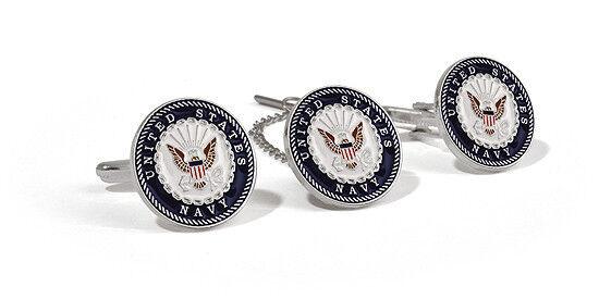NEW U.S. Navy Tie Tack & Cuff Link Set. 60923.