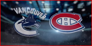 Canadiens Montreal vs Vancouver Canucks 7 Janvier BLANC *20%OFF*