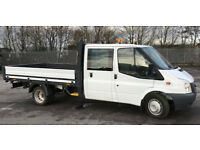 Ford Transit 350 LWB Double Cab Alloy Drop Side Pickup