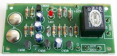 Touch Switch On-Off board 12VDC Relay 5A [ Unassembled kit ]