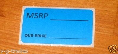 Lot 100 Blue Msrp Our Price Sales Price Labels Stickers Tags Retail Store