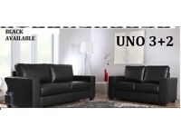 3+2 leather sofa black or brown