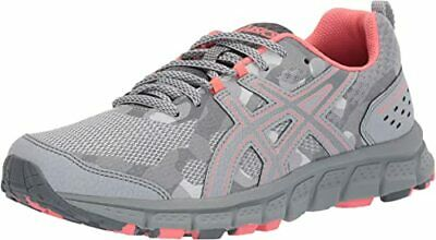ASICS Gel-Scram 4 Women MID Grey/Stone Grey Fabric Running Shoes M US...