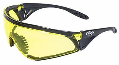 Global Vision Python Padded Wrap Around Safety Glasses Yellow Lens Z87.1
