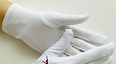 White Nylon Short Gloves for Uniform, Costume, Work ~ Unisex: Women L/ Men M - Costumes For Short Men
