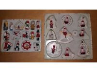 25 x Wooden Christmas Tree Decorations Characters 16 Small 9 Large