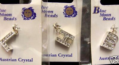 BLUE MOON BEADS PENDANTS  B  H & L LETTER CHARMS JEWELRY MAKING - Letter B Crafts
