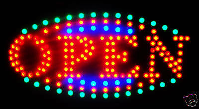 2017 Latest Ultra Bright Led Neon Light Animated Motion Open Business Sign L161