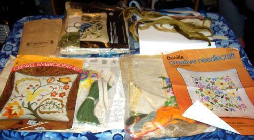 Crewel embroidery kits ebay