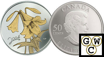 2004 Easter Lily Proof 50ct Gold-Plated (10838) for sale  Winnipeg