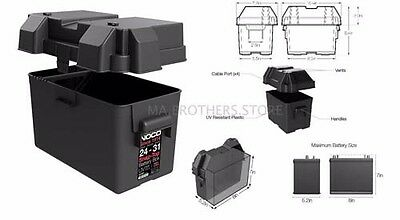 Snap Top Battery Box For Automotive Marine And RV NOCO HM318BKS Group 24-31