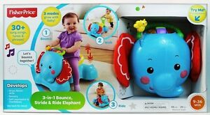 Fisher-Price - 3-in-1 Bounce, Stride & Ride Elephant BNIB