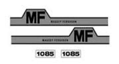 New Massey Ferguson Hood Decal Set Mf1085 Whump