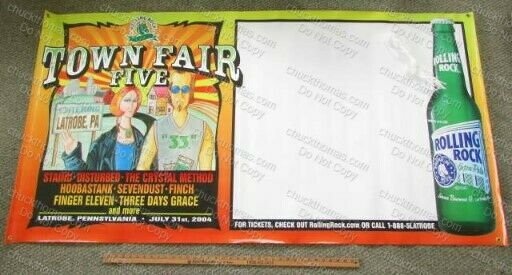 Latrobe Brewing Co Rolling Rock ORIGINAL Vinyl Banner Town Fair V 2004