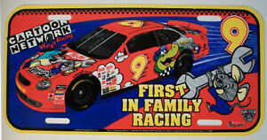 Rare - 1998 NASCAR CARTOON NETWORK  Decorative License Plate