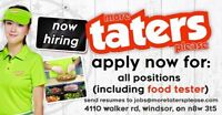 Hiring All Positions! (Fast Food - Tater Team Member)