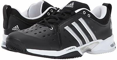 new arrival 7667e 4b82d Adidas Barricade Classic Wide (4E) BK SL WH Mens Size US 9.5