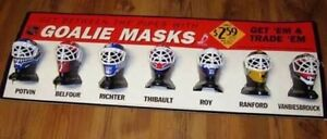 WANTED McDonalds GOALIE MASKS display collectible sign helmet