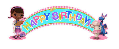 Doctor Mcstuffin Party Supplies (DOC MCSTUFFINS HAPPY BIRTHDAY party BANNER doctor Lambie Stuffy wall)