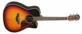 Yamaha A1R Electro-Acoustic Guitar, Sunburst, As New in original Hardcase