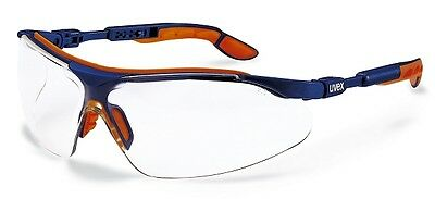 UVEX I-VO 9160065 Safety Glasses / Spectacles - Clear Lens - Blue Brown Frame