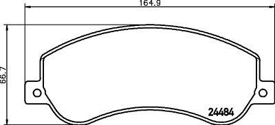 Mintex Front Brake Pad Set MDB3107    BRAND NEW   GENUINE   5 YEAR WARRANTY