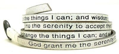 Good Works Leather Serenity Prayer Wrap Around Bracelet - Starjestic