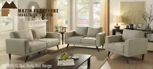 Floor Model just like Brand New! 2 Pc Beige Sofa + Love Seat Set on Clearance