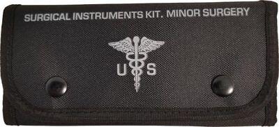 Field Trauma Kit - ELITE FIRST AID Surgical Kit STOCKED Field Medic Suture Trauma Survival BLACK+