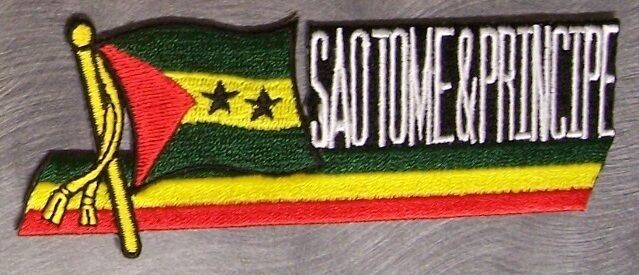 Embroidered International Patch National Flag of Sao Tome Principe NEW streamer