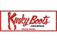Two tickets for Kinky boots Friday 27th April